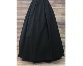 ccd804937 Skirt Only-Renaissance Civil War Victorian Southern Belle LARP Cosplay  Dickensonian Pioneer - black - full maxi skirt dress costume