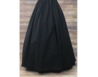 295e252aa9 Skirt Only-Renaissance Civil War Victorian Southern Belle LARP Cosplay  Dickensonian Pioneer - black - full maxi skirt dress costume