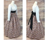 Victorian Dresses | Victorian Ballgowns | Victorian Clothing Complete Outfit  Skirt Blouse and Sash  Renaissance Civil War Victorian Southern Belle LARP Medieval Pioneer Dress Costume $68.48 AT vintagedancer.com