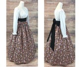 Old Fashioned Dresses | Old Dress Styles Complete Outfit  Skirt Blouse and Sash  Renaissance Civil War Victorian Southern Belle LARP Medieval Pioneer Dress Costume $68.48 AT vintagedancer.com