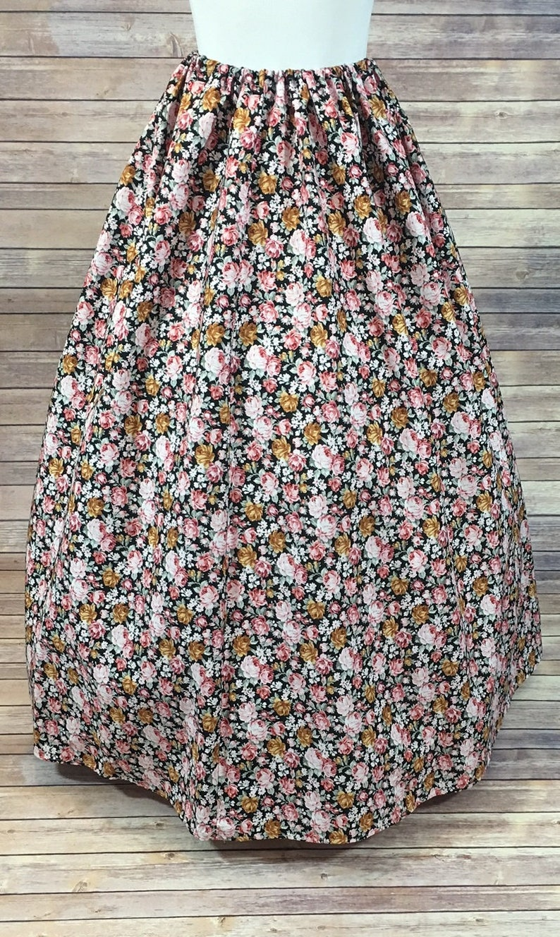 Pioneer Southern Belle Dickensonian Victorian Cosplay pink floral dress costume Skirt Only Renaissance Civil War LARP