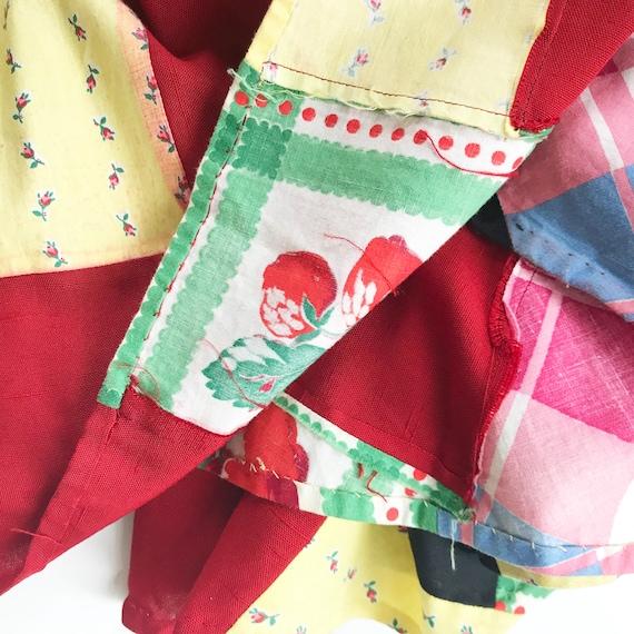 Skirt patchwork EU Size M/L real true patchwork V… - image 6