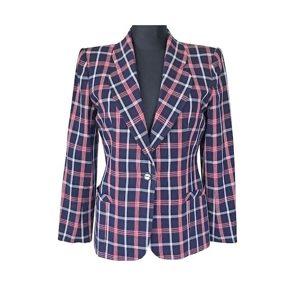 Jacket blazer EMANUEL UNGARO designer checkered bl