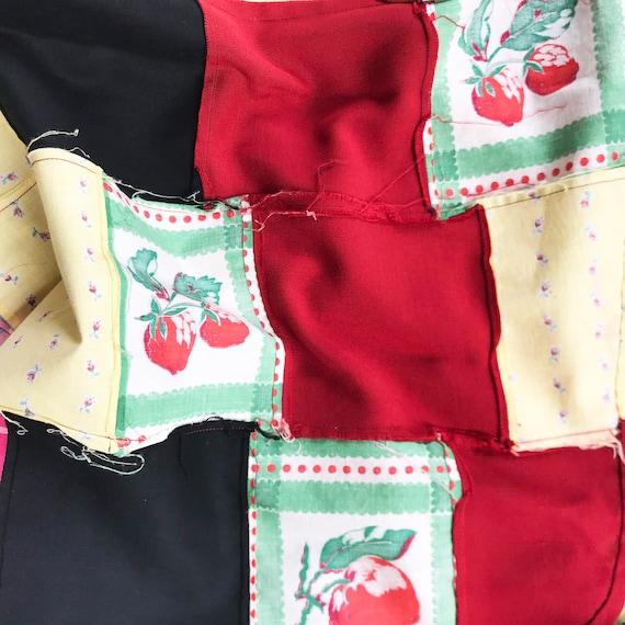 Skirt patchwork EU Size M/L real true patchwork V… - image 7