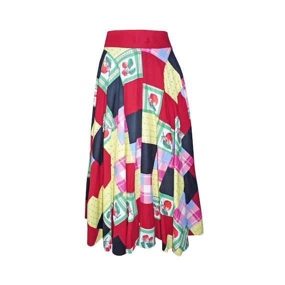 Skirt patchwork EU Size M/L real true patchwork V… - image 1