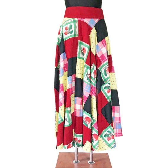 Skirt patchwork EU Size M/L real true patchwork V… - image 2