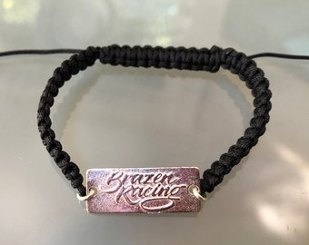 Braided Double Sided Brazen Racing bracelet