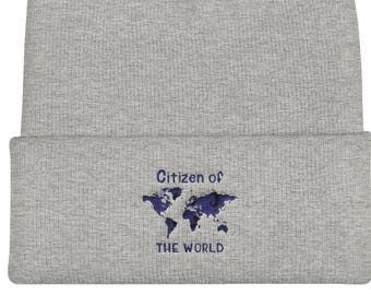 Citizen Of The World Cuffed Beanie