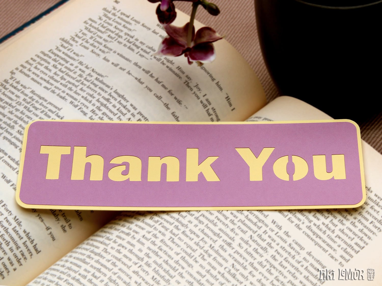 Thank You Bookmark Book Lover Gift Reader Gift Literary
