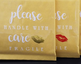 Mailing Labels, Lipsense Packaging, Fragile Label, Mailing Stickers, Packaging Labels, Mailing Decals, Lipsense Shipping, Handle With Care