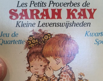 Sarah Kay game cards - Kwartetspel, jeu de Quartette - vintage cards - different sets with 4 cards