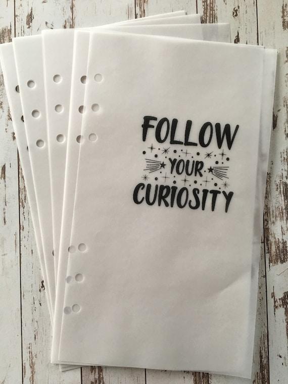 Vellum Inserts A5 Slim Planner Essentials Elizabeth Craft Etsy