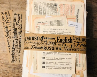 Vintage paper giftset with approx. 75 pages in about 10 different languages