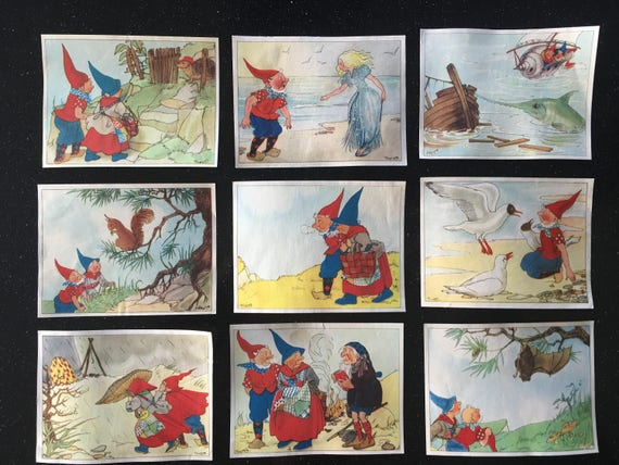 9 Pcs 1960 S Gnome Piggelmee Collectors Images Vintage Very Sweet For Your Altered Art Projects Etc
