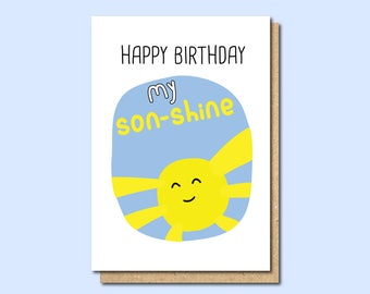 Birthday Card For Son Funny Shine Family Withpuns In Law