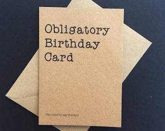 Funny Birthday Card, Friend Birthday Card, Boyfriend Birthday, mum Birthday, Sister Birthday card, vintage birthday card, Dad birthday card