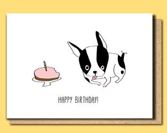 Birthday Cards Funny Card For Dog Lover Animal Bulldog