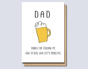 Funny Card For Dad Birthday Fathers Day Father Daddy