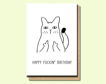 Funny Friend Birthday Card Cards Greeting Swear Fuck Rude