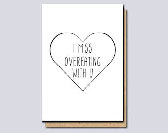 Miss you cards etsy au i miss you card thinking of you card funny miss you card long distance card card for boyfriend card for girlfriend funny greeting card m4hsunfo