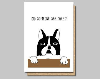 Funny Birthday Card Dog Vegan Owner Bulldog Cards