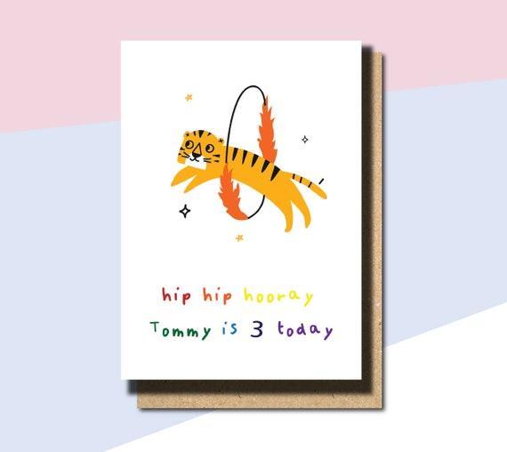 3rd Birthday Card Girl 3rd Birthday Card Daughter 3rd