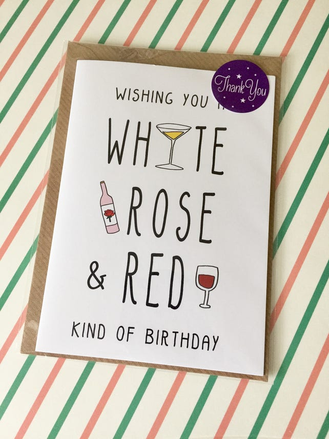 Wine Birthday Cards Happy Friend Funny Greeting Card Sister Aunt Withpuns