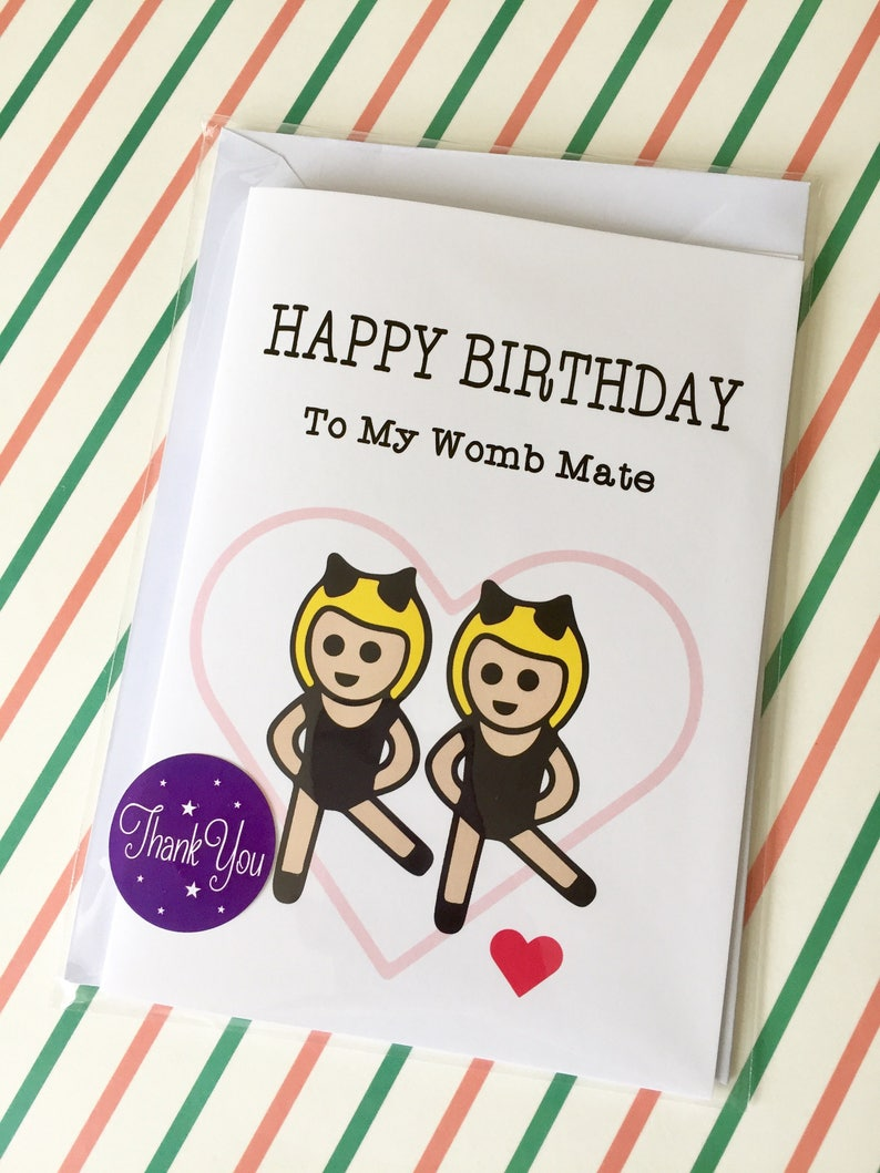 Funny Sister Birthday Card Happy Cards Womb