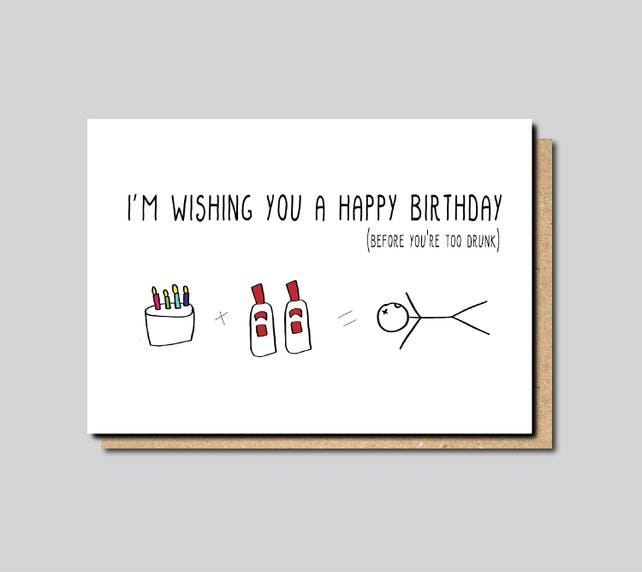 Funny Birthday Card Boyfriend Friend For Brother Sister