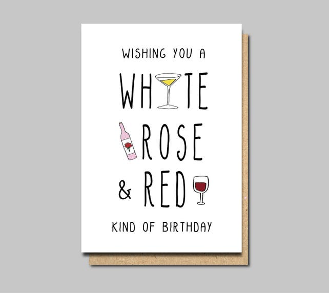 Wine Birthday Cards Happy Friend Funny Greeting Card Sister