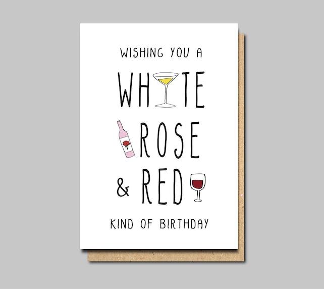 Wine Birthday Cards Happy Friend Funny Greeting Card