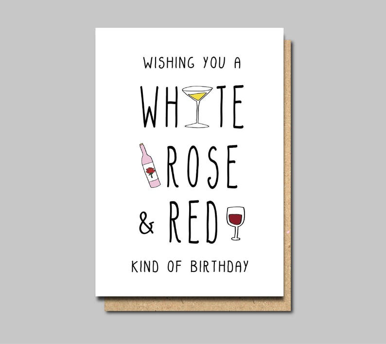 Wine Birthday Cards Happy Friend