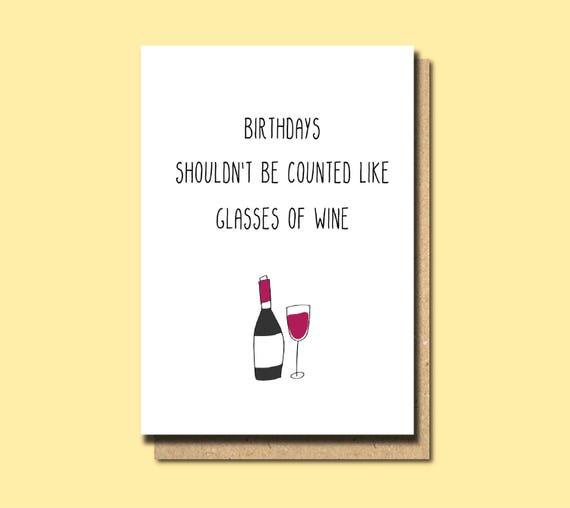 Freund Geburtstagskarte Wein Karte Wein Geburtstagskarte Etsy
