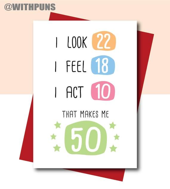50th Birthday Card Funny Birthday Card 50th Birthday Gift Etsy