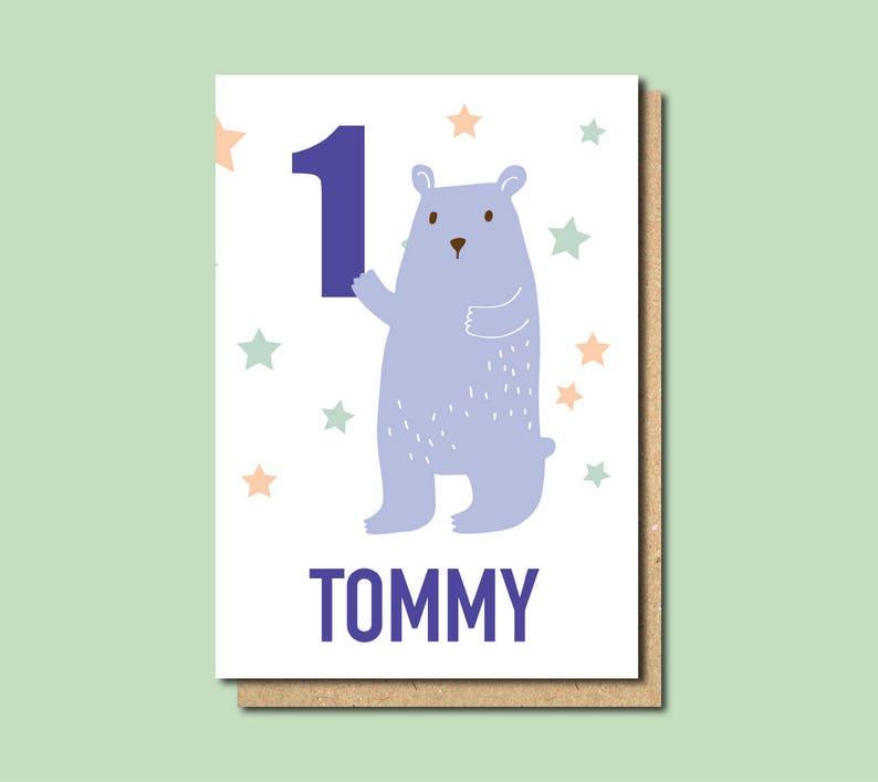 Cadeau personnalisé pour un petit-fils de 1er anniversaire de cartes