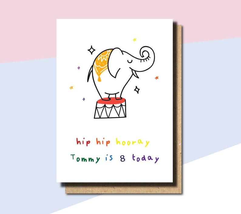 8TH Birthday Card Girl Daughter