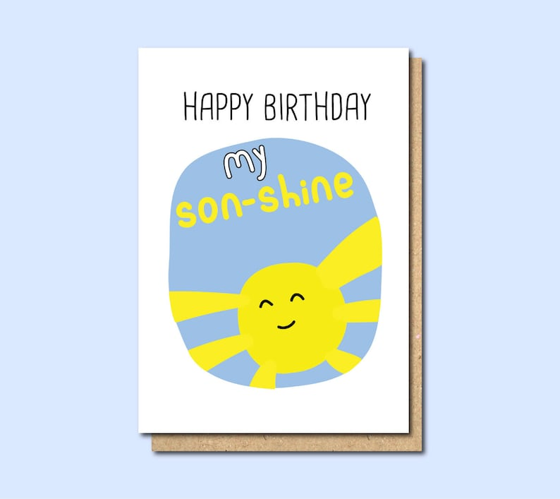 Birthday Card For Son Funny