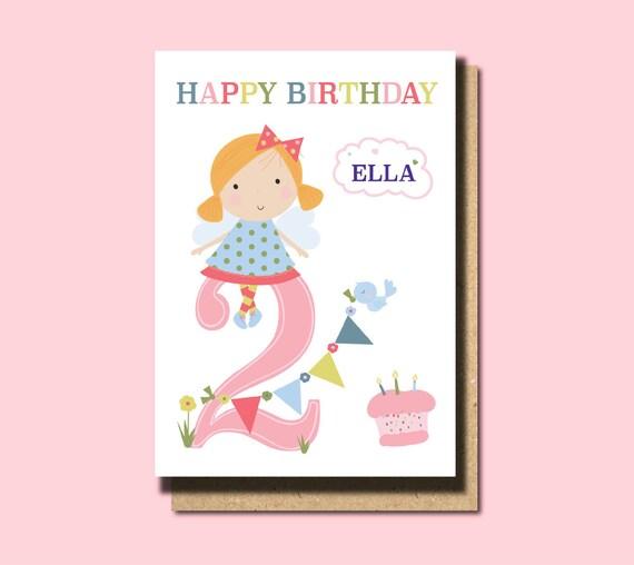 2nd Birthday Card Niece Granddaughter
