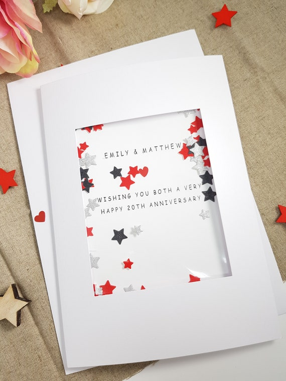 anniversary card for both of you, anniversary card for couple, personalised anniversary card, 1st anniversary card, 10th anniversary card