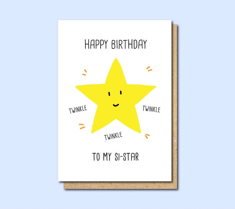 Funny Sister Birthday Card Happy Cards