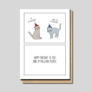 Birthday Card Friend For Her Funny Cat Sister Lover Greeting