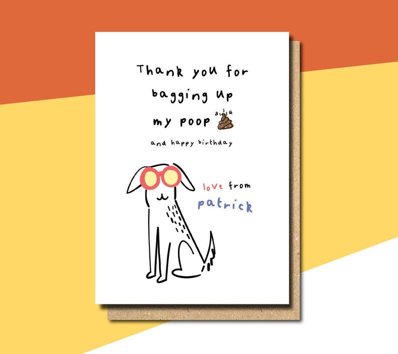 Birthday Card From The Dog Funny Boyfriend Best Friend Personalised FB61