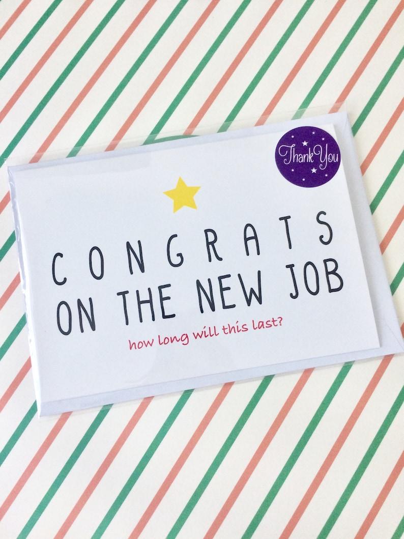 funny new job card funny farewell card good luck card card
