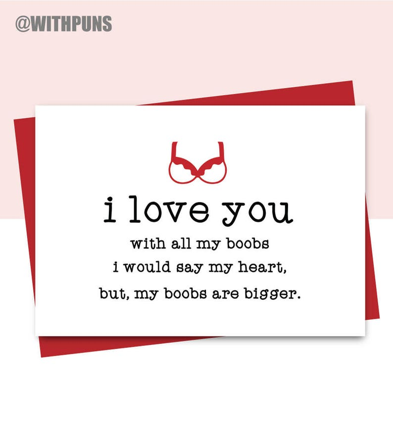 naughty card joke card adult cad Valentines Card card for boyfriend Funny Anniversary Card card for husband FL58 Funny love card