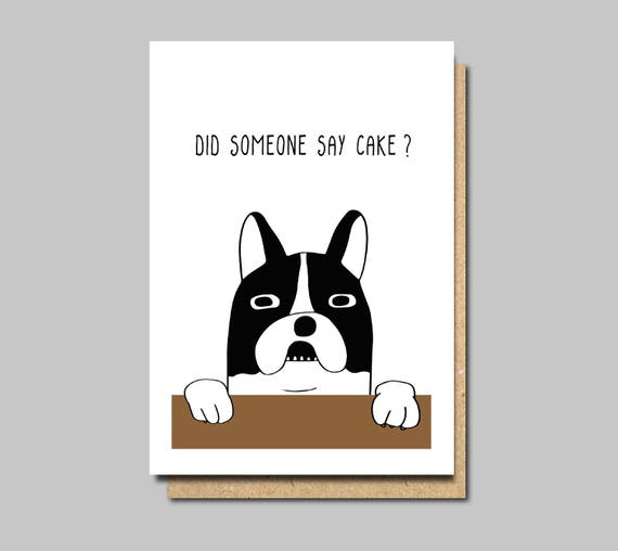 Funny Birthday Card Funny Dog Card Dog Birthday Card Vegan Etsy