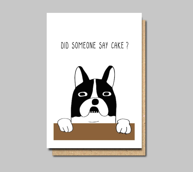 Funny Birthday Card Dog Vegan