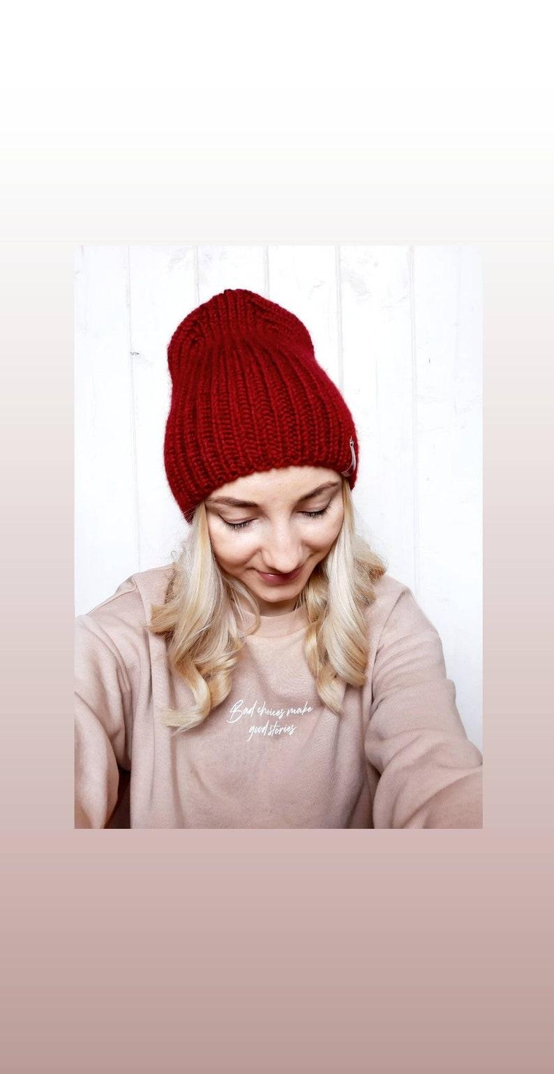 Winter beanie knitted hat Beanie hat