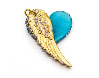 Glowing Swarovski Winged Heart