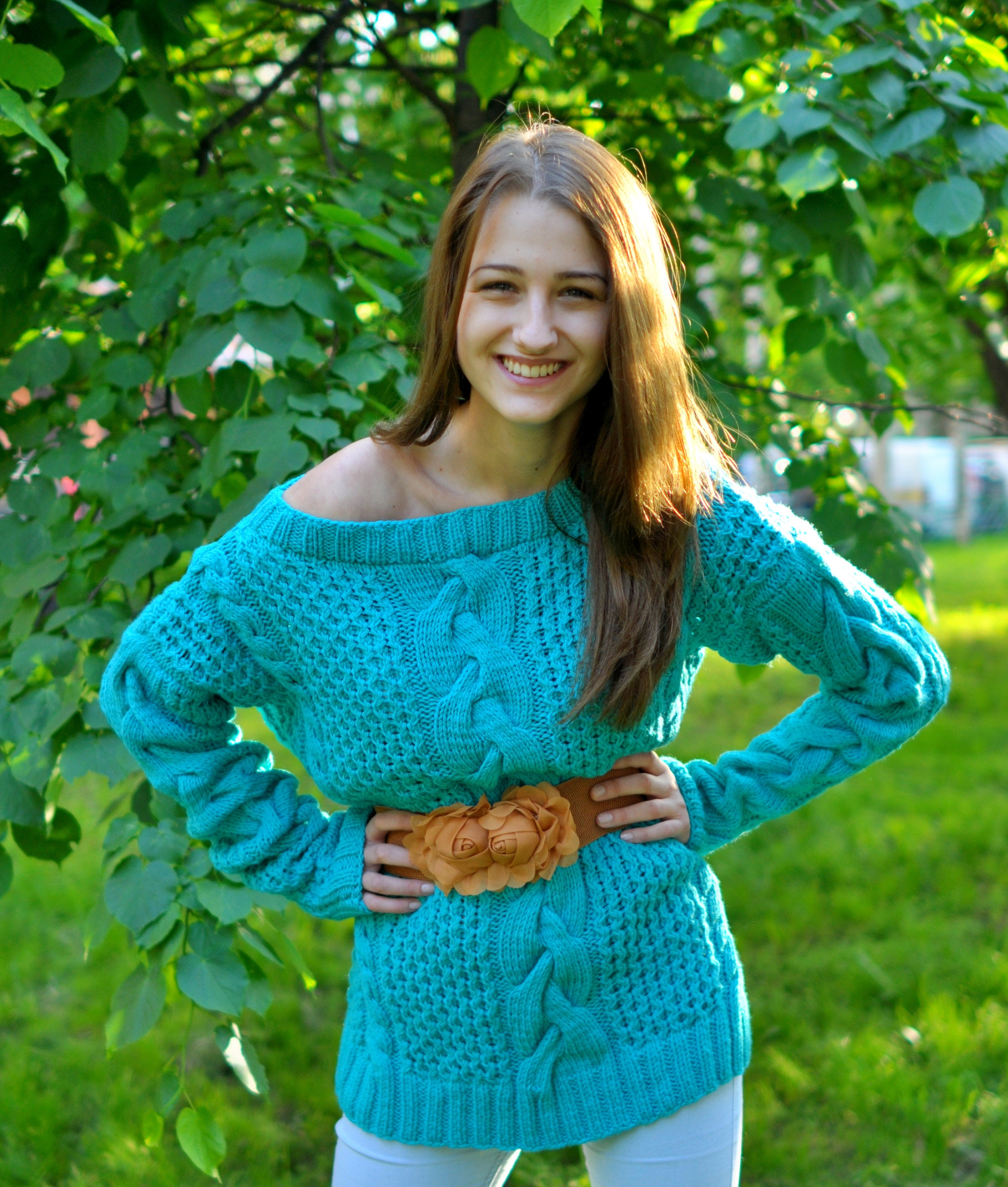knitted women sweater large air knitting very comfortable