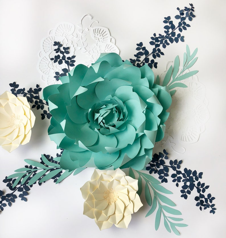 Paper Flower Template Pdf And Svg Fire Lilly 12 Inch Flower